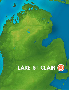 Map Lake St Clair