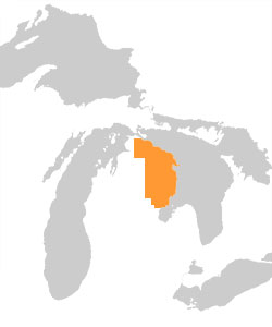 Map - Sunrise Coast Michigan